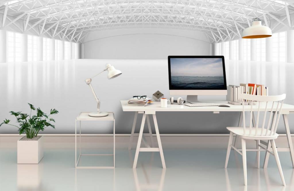 Buildings - Empty white warehouse - Management 2