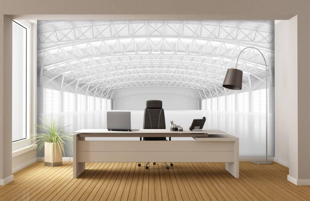 Buildings - Empty white warehouse - Management 3