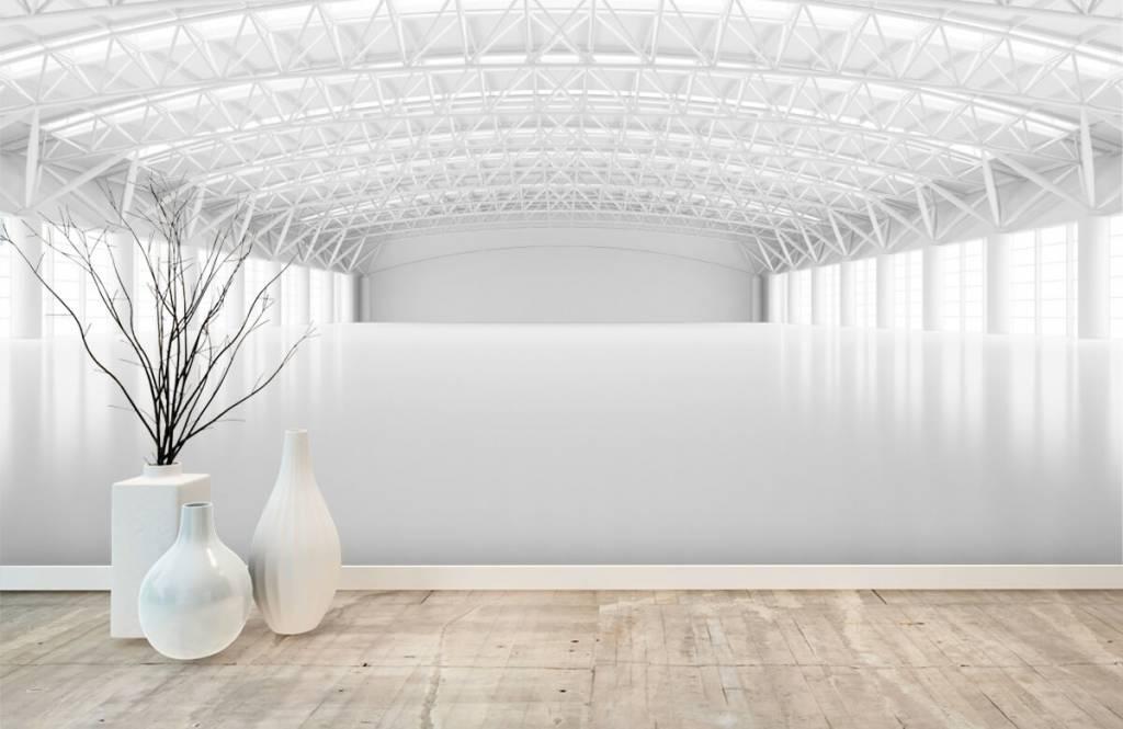 Buildings - Empty white warehouse - Management 7