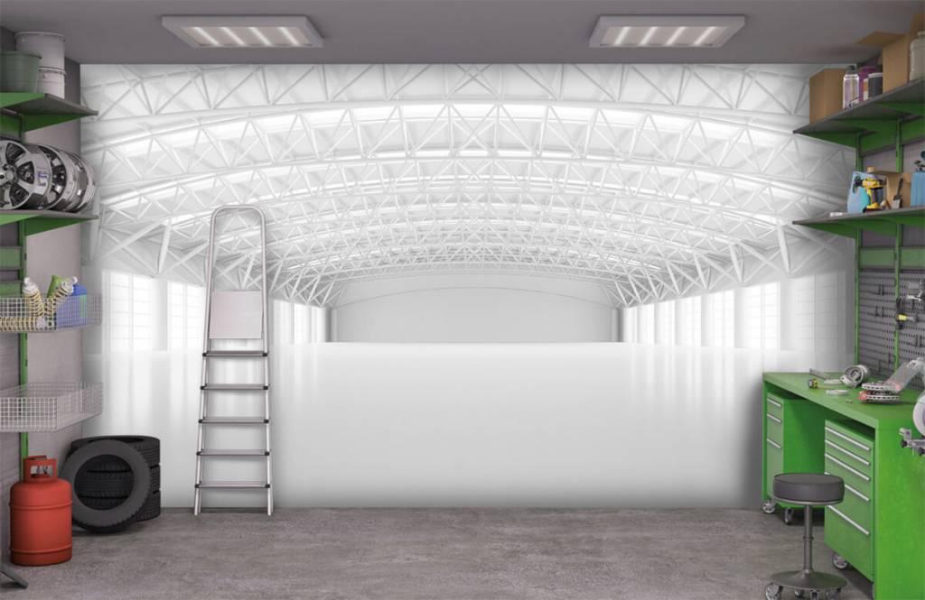 Buildings - Empty white warehouse - Management 9
