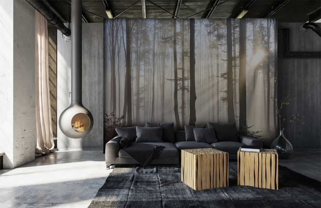 Forest wallpaper - Foggy forest - Bedroom 6