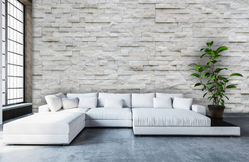 Stone wallpaper - Modern stone wall - Cafeteria 1