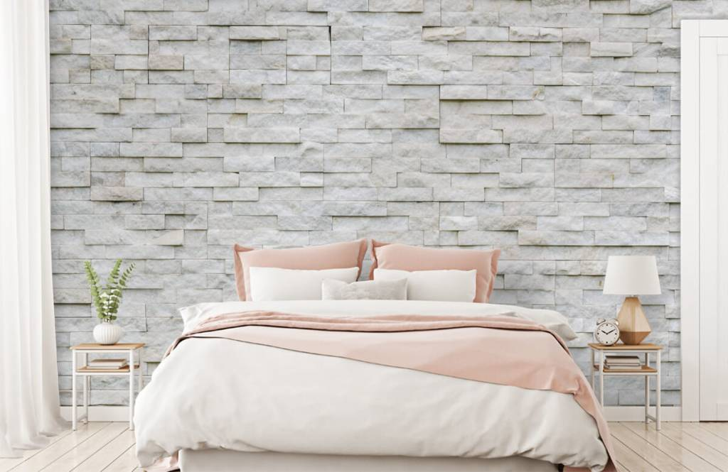 Stone wallpaper - Modern stone wall - Cafeteria 2