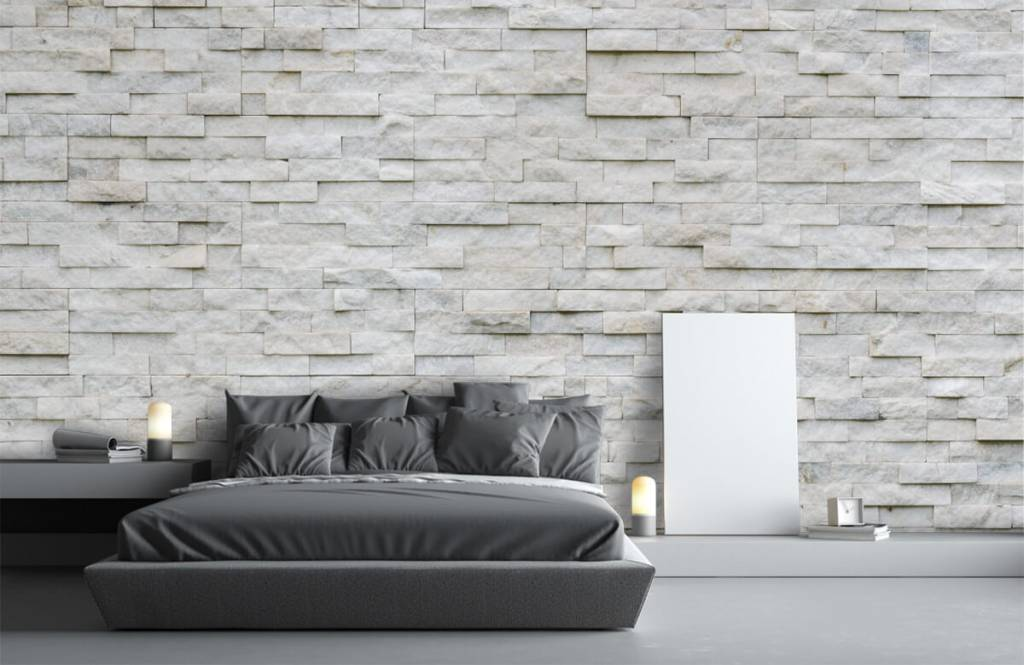 Stone wallpaper - Modern stone wall - Cafeteria 3