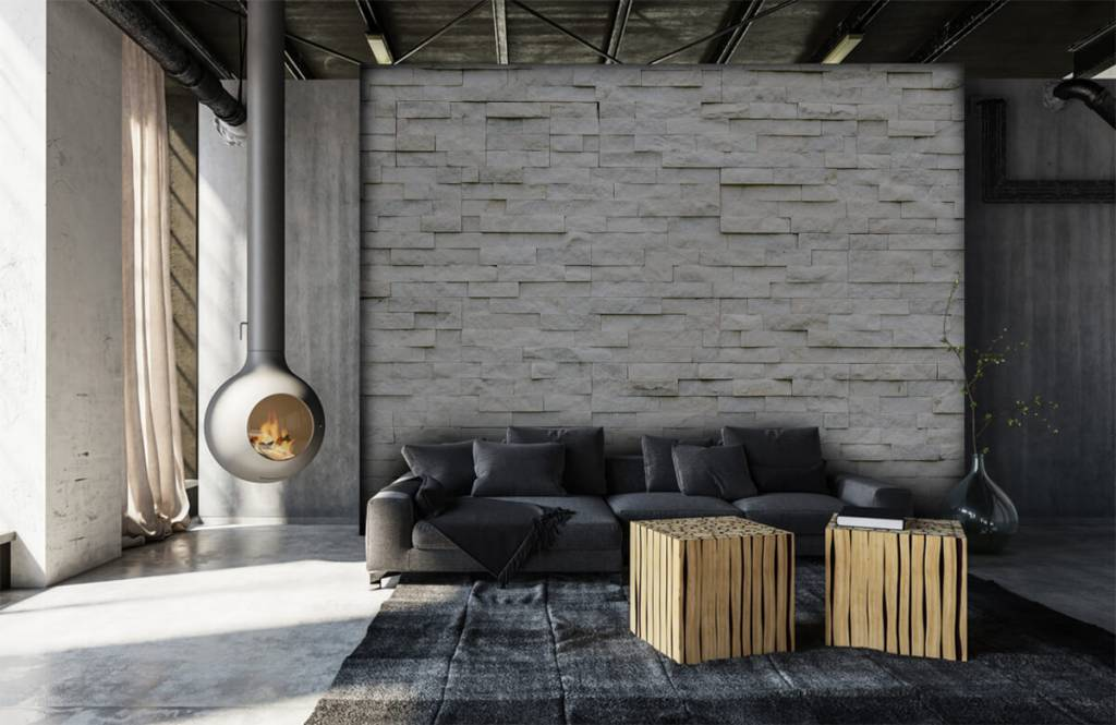 Stone wallpaper - Modern stone wall - Cafeteria 5