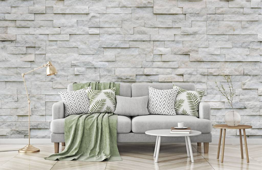 Stone wallpaper - Modern stone wall - Cafeteria 6