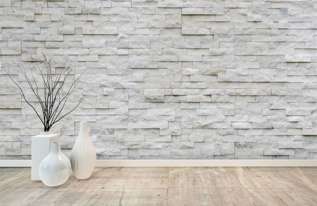 Stone wallpaper - Modern stone wall - Cafeteria 7