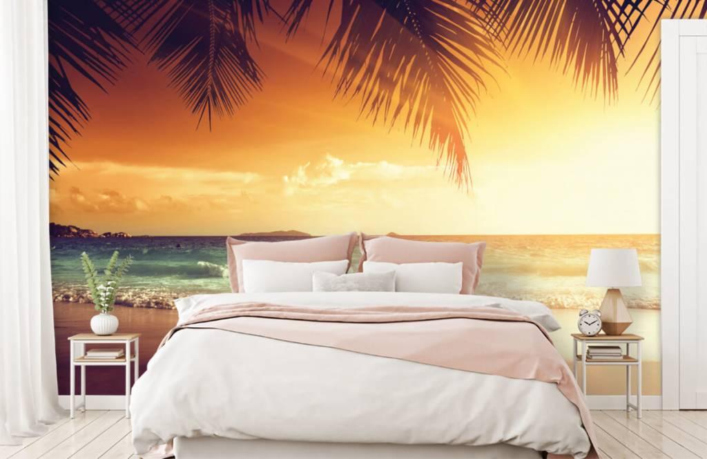 Beach wallpaper - Orange sunset - Bedroom 2