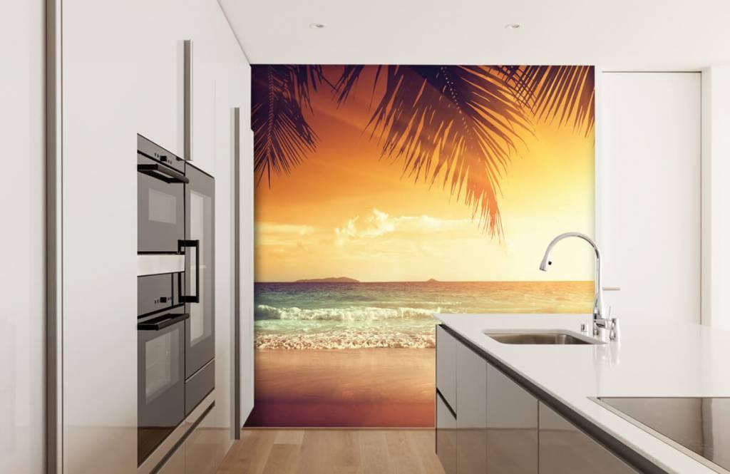 Beach wallpaper - Orange sunset - Bedroom 3