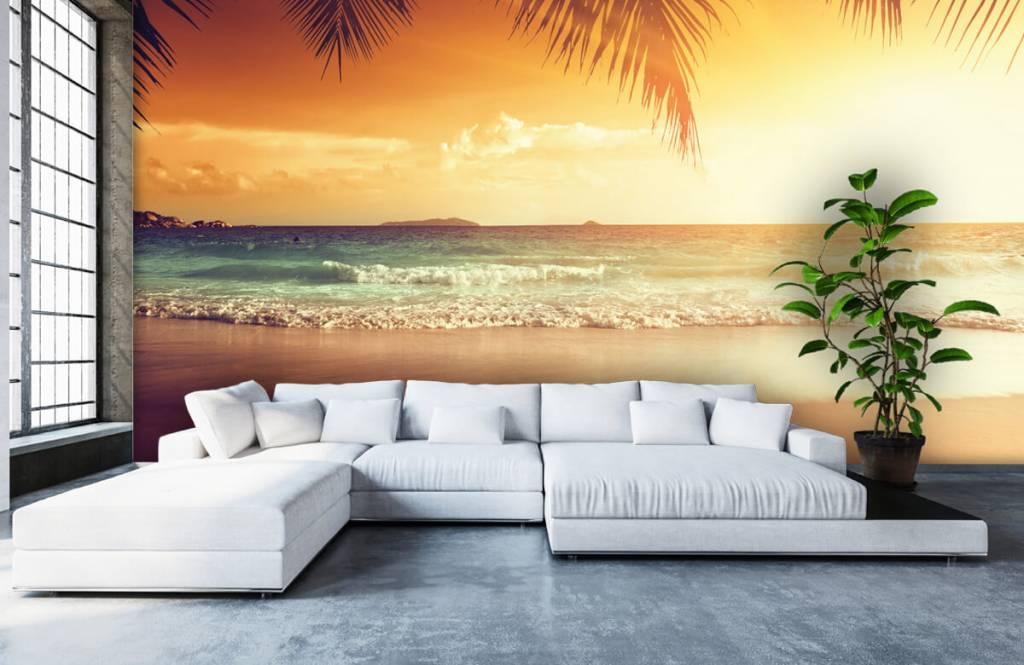 Beach wallpaper - Orange sunset - Bedroom 5
