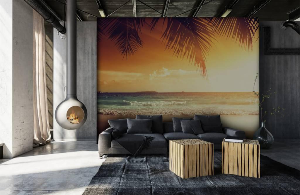 Beach wallpaper - Orange sunset - Bedroom 6