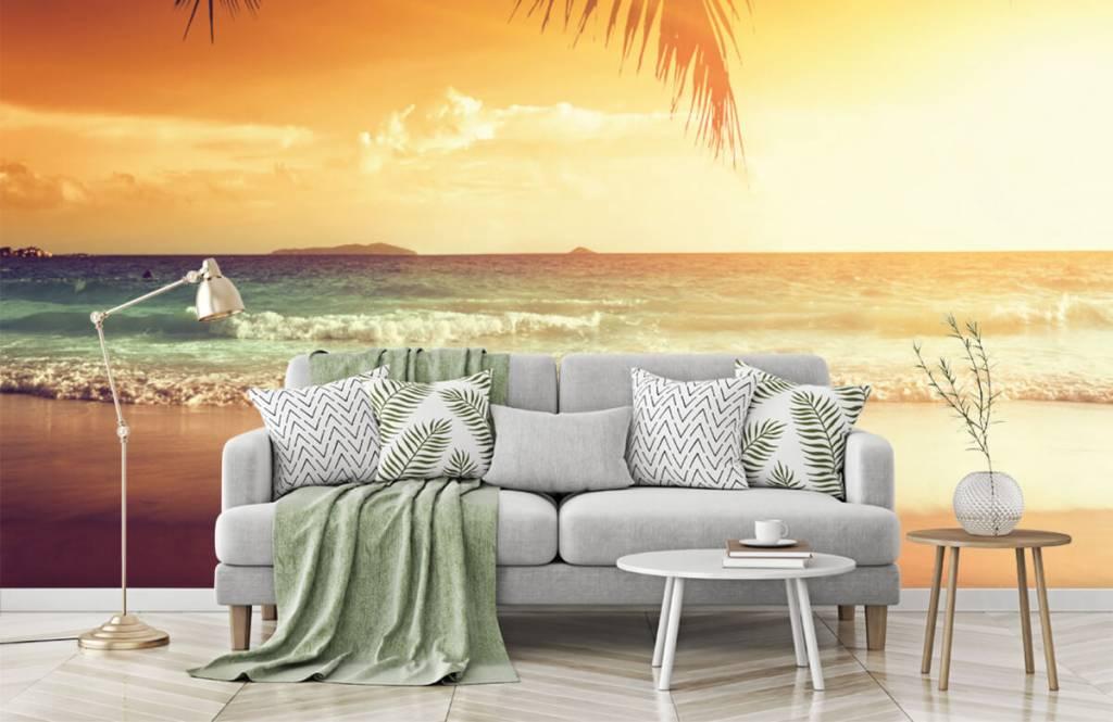 Beach wallpaper - Orange sunset - Bedroom 7