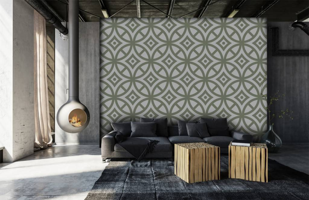 Other - Pattern of circles and diamonds - Bedroom 7