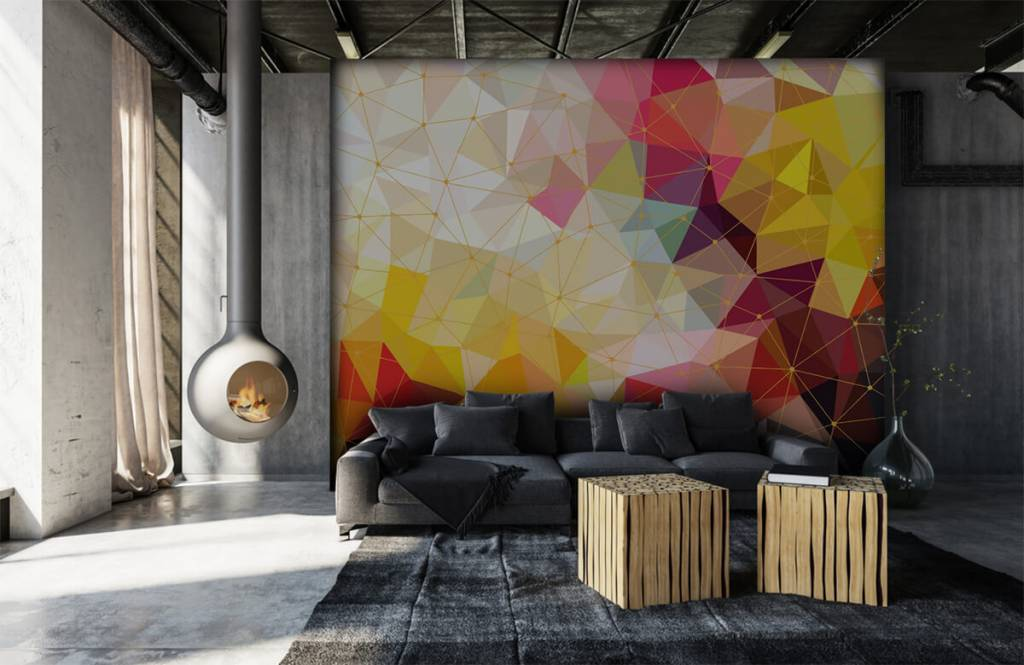 Other - Print of colorful triangles - Bedroom 1