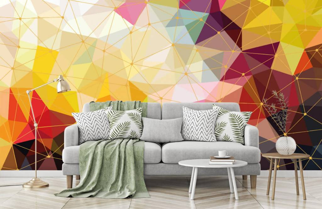 Other - Print of colorful triangles - Bedroom 2