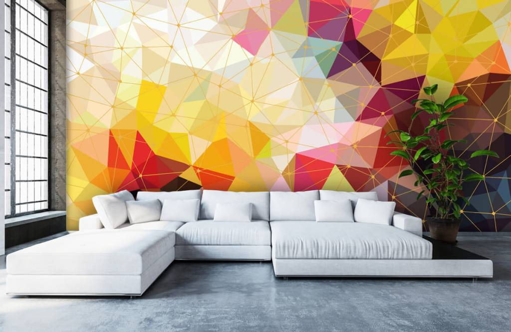 Other - Print of colorful triangles - Bedroom 3