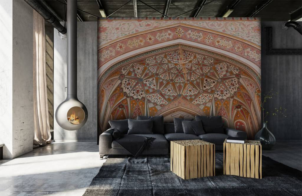 Monuments - Richly painted Indian arch - Bedroom 6