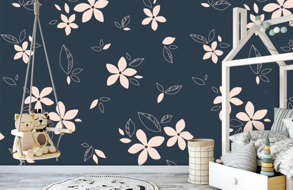 Patterns for Kidsroom - Pink floral pattern - Children's room 1