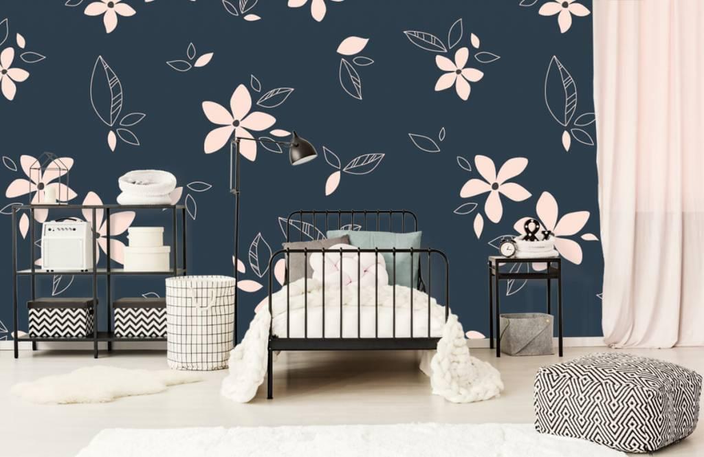Patterns for Kidsroom - Pink floral pattern - Children's room 2