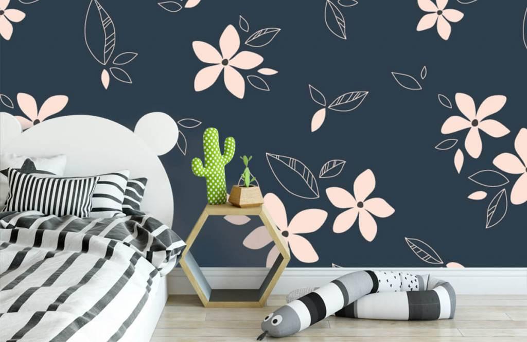 Patterns for Kidsroom - Pink floral pattern - Children's room 3