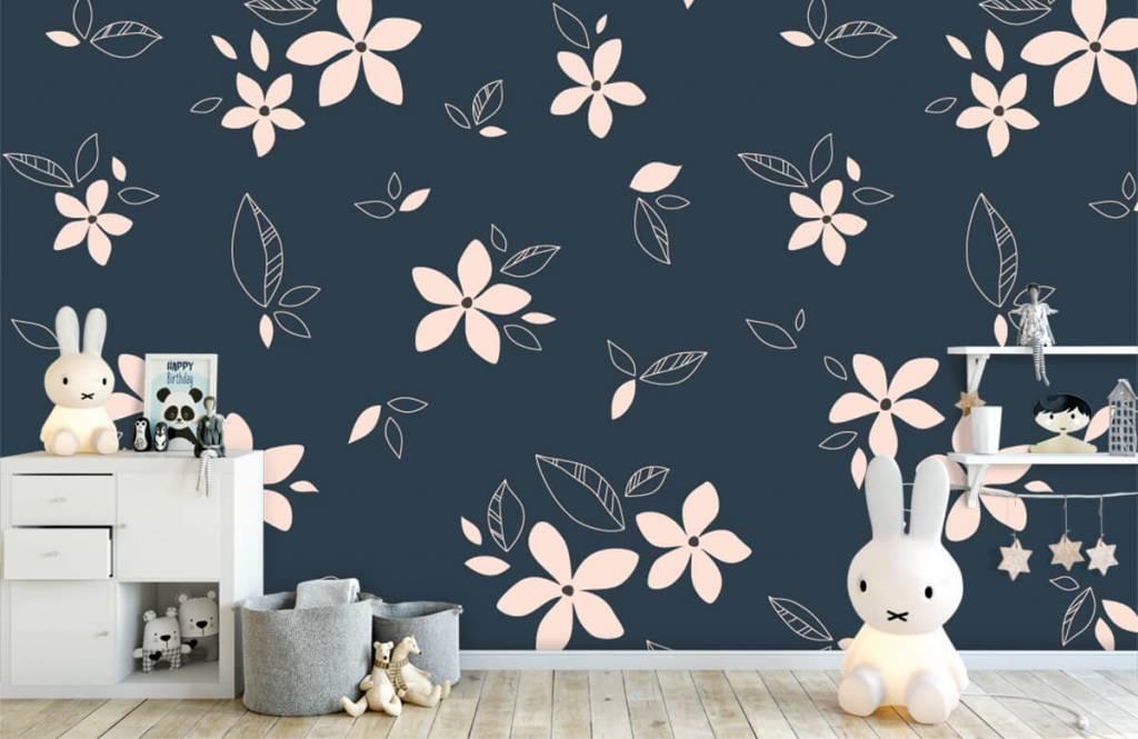 Patterns for Kidsroom - Pink floral pattern - Children's room 4