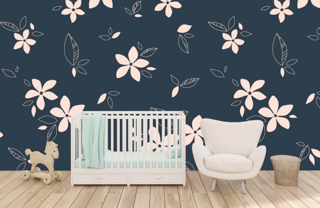 Patterns for Kidsroom - Pink floral pattern - Children's room 5