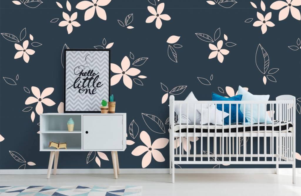 Patterns for Kidsroom - Pink floral pattern - Children's room 6