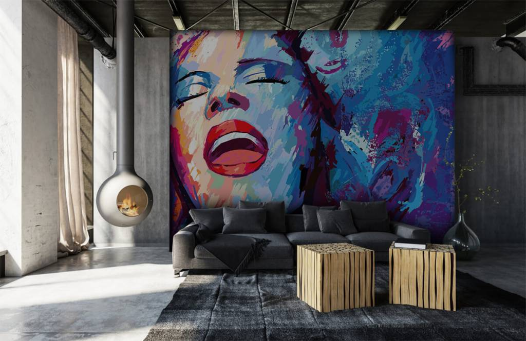 Modern - Painting of an abstract woman - Teenage room 1
