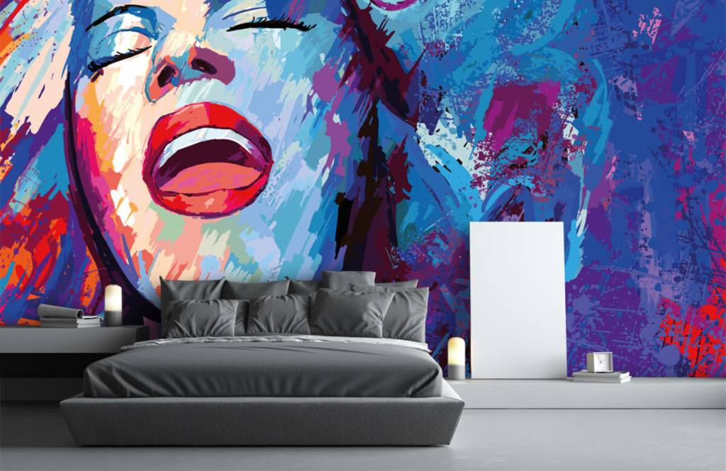 Modern - Painting of an abstract woman - Teenage room 3