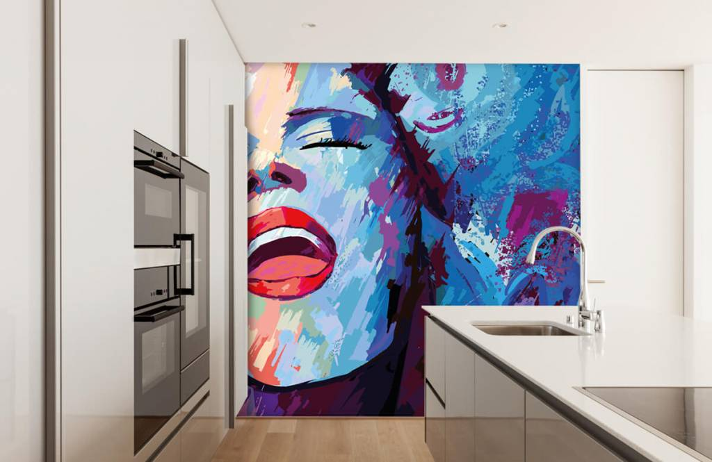 Modern - Painting of an abstract woman - Teenage room 4