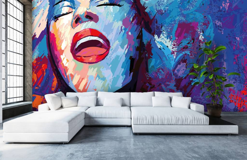 Modern - Painting of an abstract woman - Teenage room 6