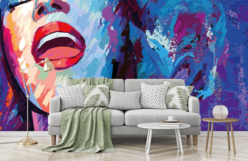 Modern - Painting of an abstract woman - Teenage room 7