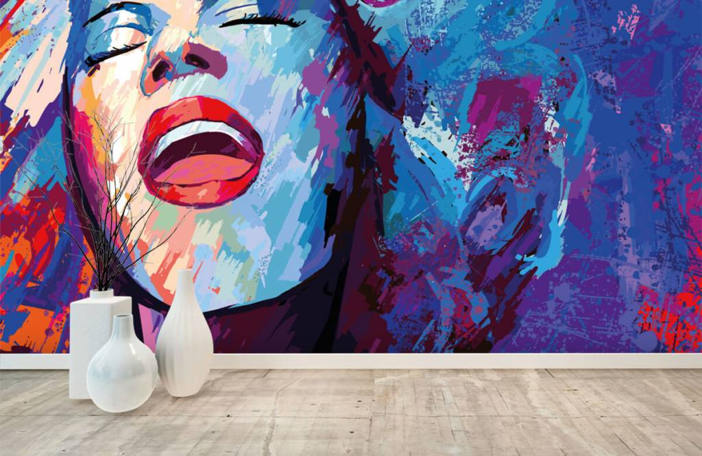 Modern - Painting of an abstract woman - Teenage room 8