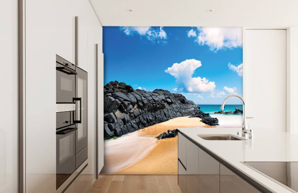 Beach wallpaper - Beach in Hawaii - Living room 3