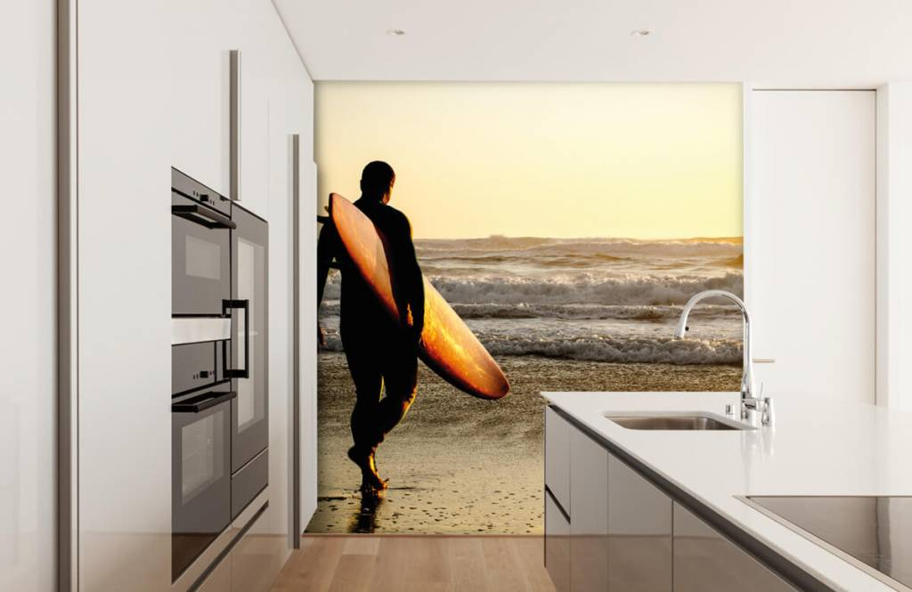 Beach wallpaper - Surfer - Teenage room 1