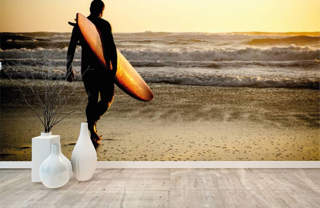 Beach wallpaper - Surfer - Teenage room 2