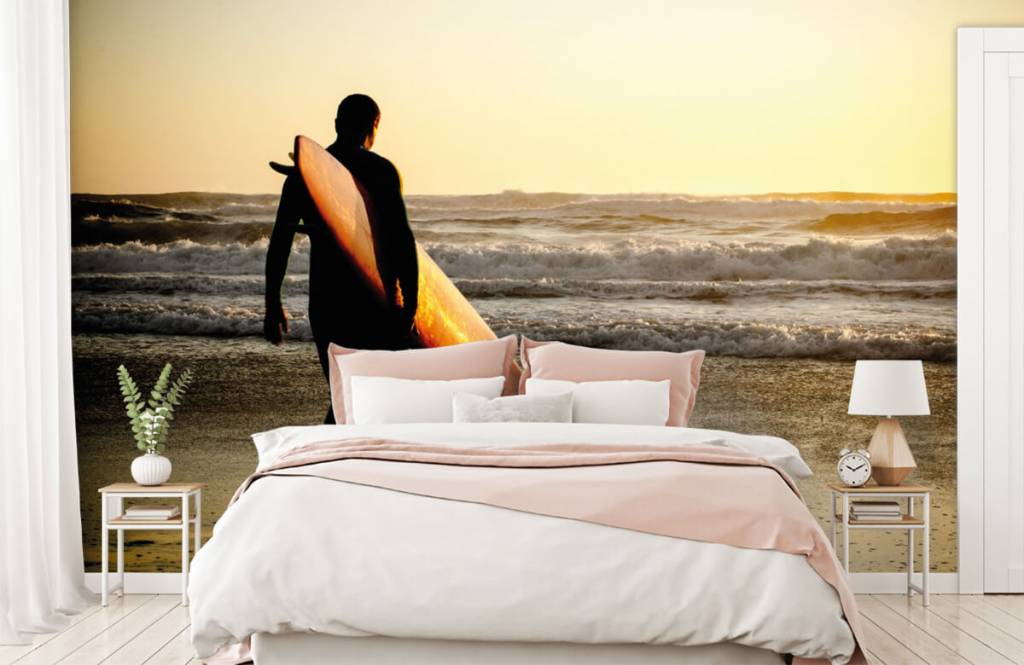 Beach wallpaper - Surfer - Teenage room 3