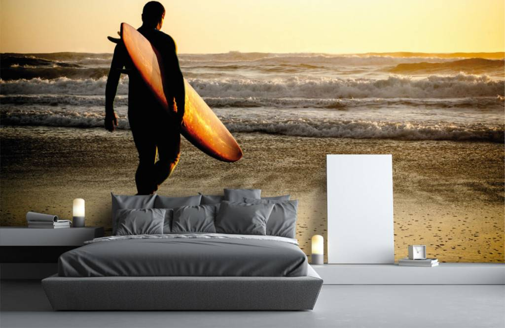 Beach wallpaper - Surfer - Teenage room 4