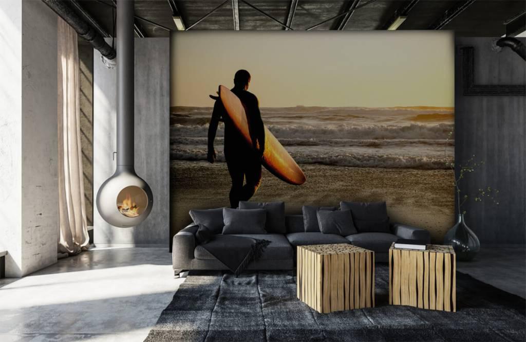 Beach wallpaper - Surfer - Teenage room 7