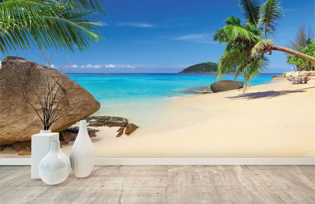Beach wallpaper - Tropical island - Hobby room 1