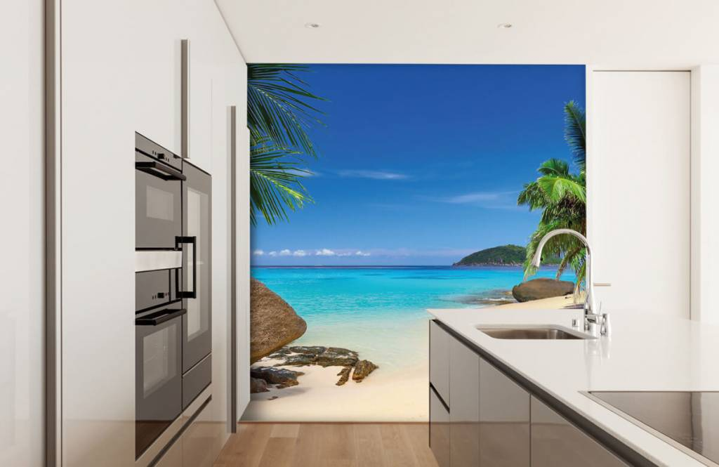 Beach wallpaper - Tropical island - Hobby room 5