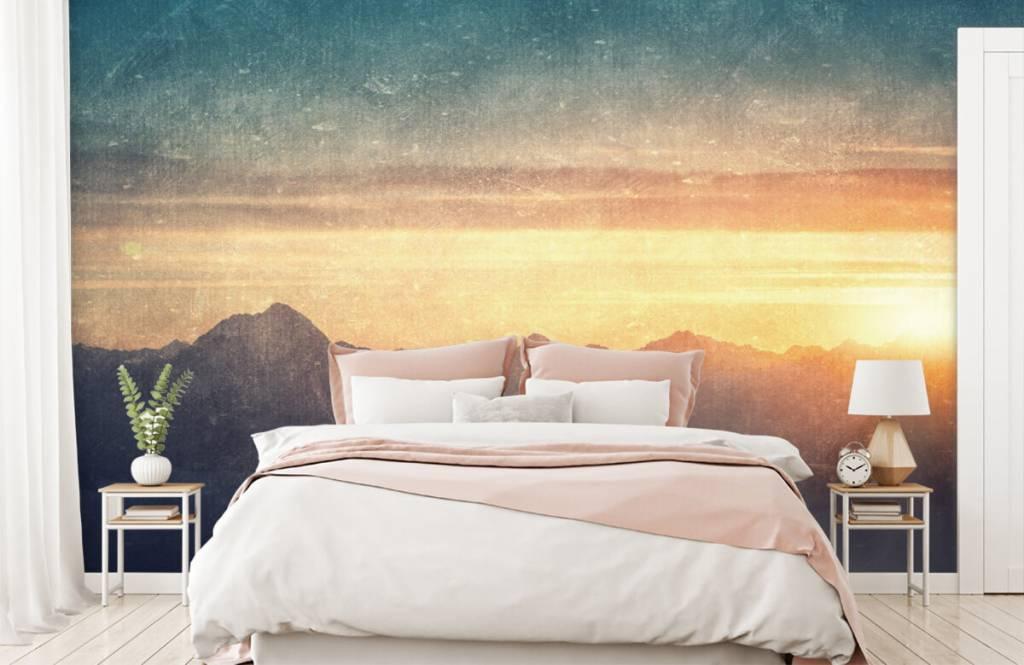 Landscape wallpaper - Vintage mountain landscape - Bedroom 1
