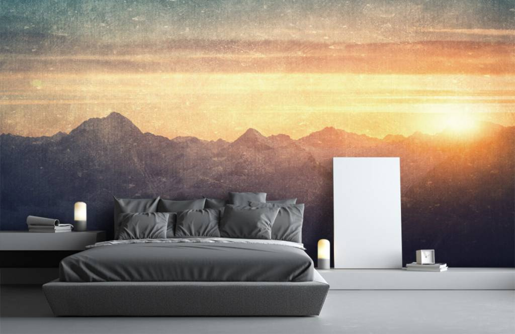 Landscape wallpaper - Vintage mountain landscape - Bedroom 2