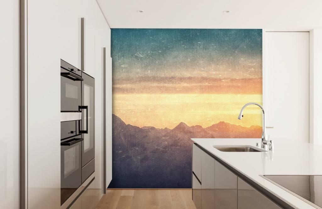 Landscape wallpaper - Vintage mountain landscape - Bedroom 3