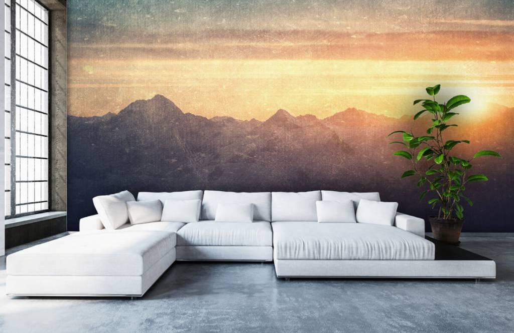 Landscape wallpaper - Vintage mountain landscape - Bedroom 5
