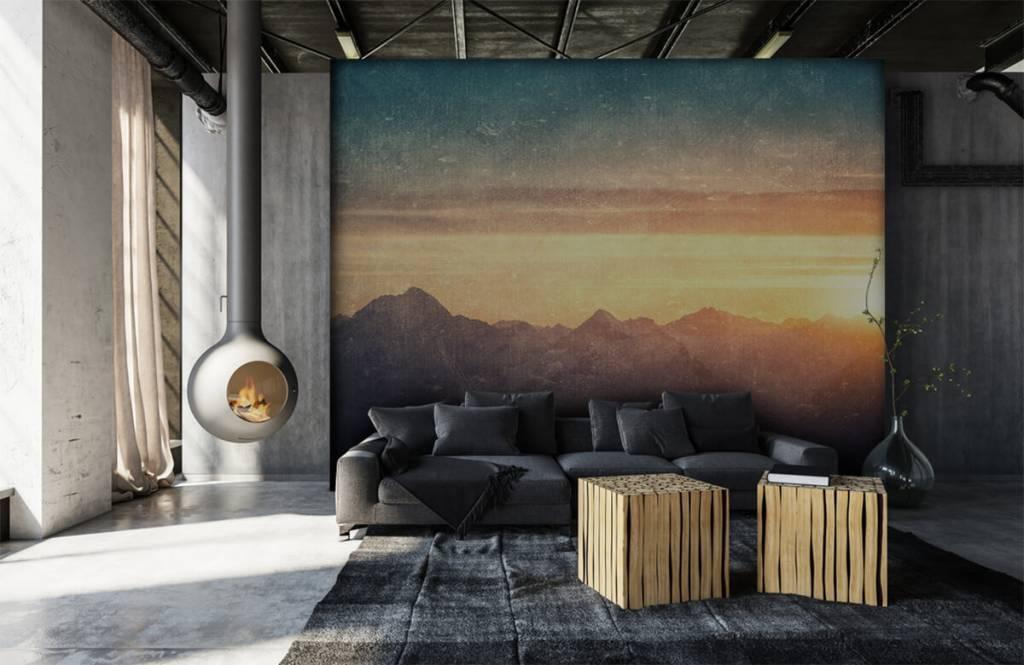 Landscape wallpaper - Vintage mountain landscape - Bedroom 6