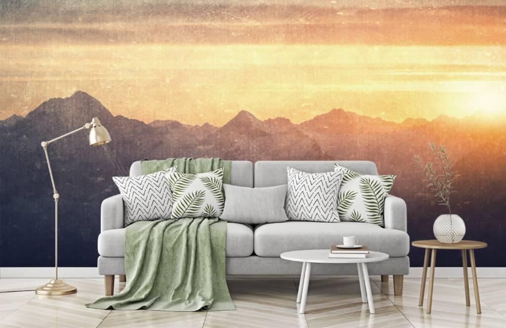 Landscape wallpaper - Vintage mountain landscape - Bedroom 7