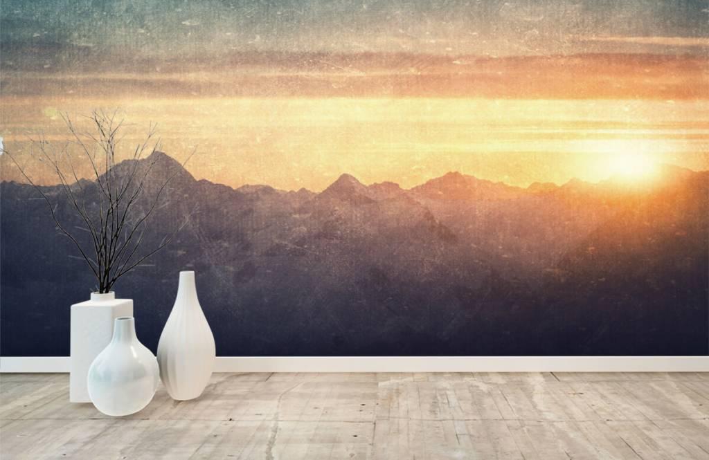 Landscape wallpaper - Vintage mountain landscape - Bedroom 8