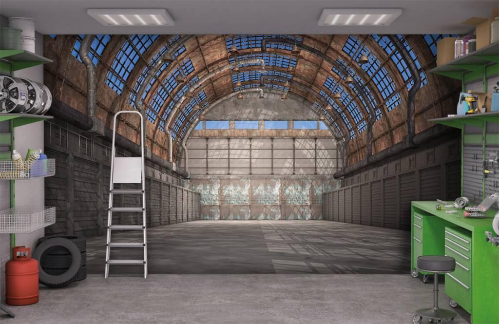 Buildings - Vintage factory hall - Garage 1