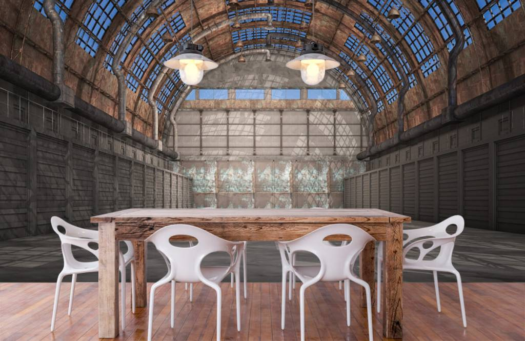Buildings - Vintage factory hall - Garage 7